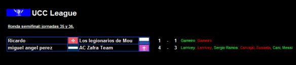 Semifinales UCC League