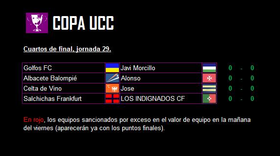 Cuartos de final de la Copa UCC