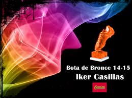 Bota de Bronce 14-15 Iker Casillas