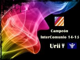 Campeón InterComunio 2014-15 Urii Borde Negro