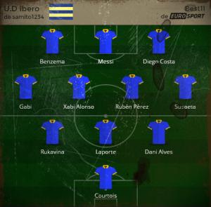 Mejor 11 U. Ibero Final 2013-14 antigua a color