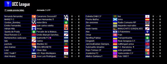 Partidos de ida de la 1ª ronda UCC League 15-16