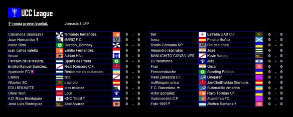 Partidos de vuelta de la 1ª ronda UCC League 15-16