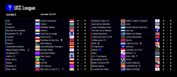 Partidos_UCC League_Jornada 5