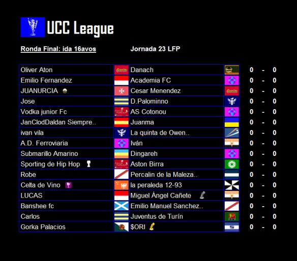 Partidos_UCC League_16avos_ida