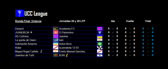 Partidos_UCC League_Octavos_ida