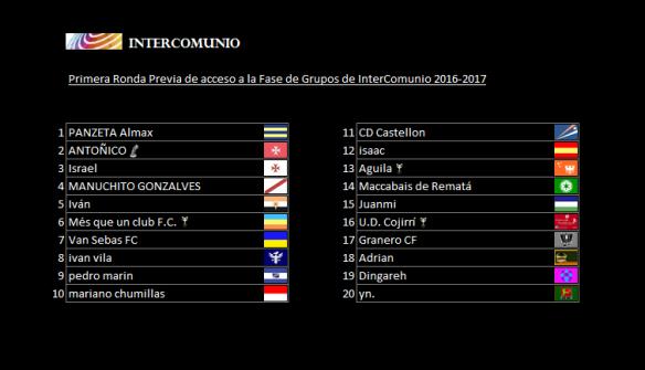 Intercomunio 2016-2017_1ª Previa