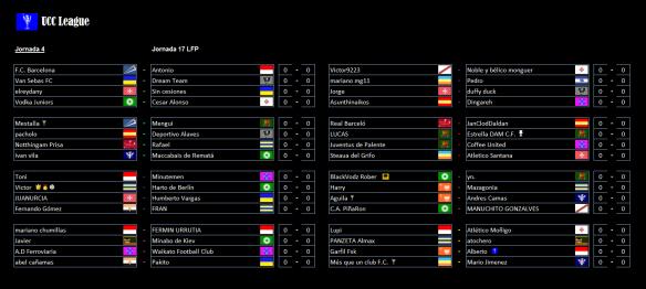 partidos-de-la-4a-jornada-de-la-ucc-league