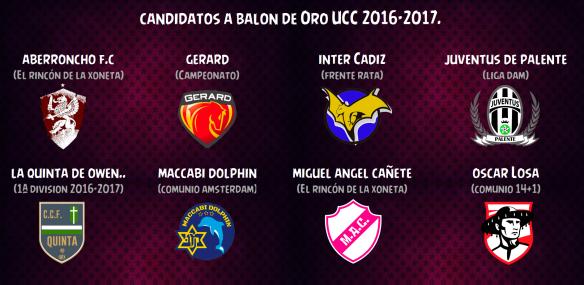 Candidatos a Balón de Oro UCC