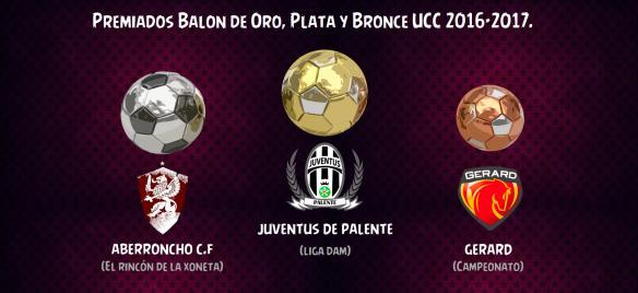 Premiados Balón de Oro-Plata-Bronce 2017