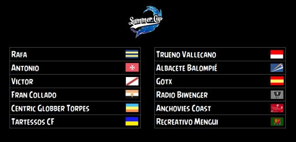 Equipos participantes Summer Cup 2018-19
