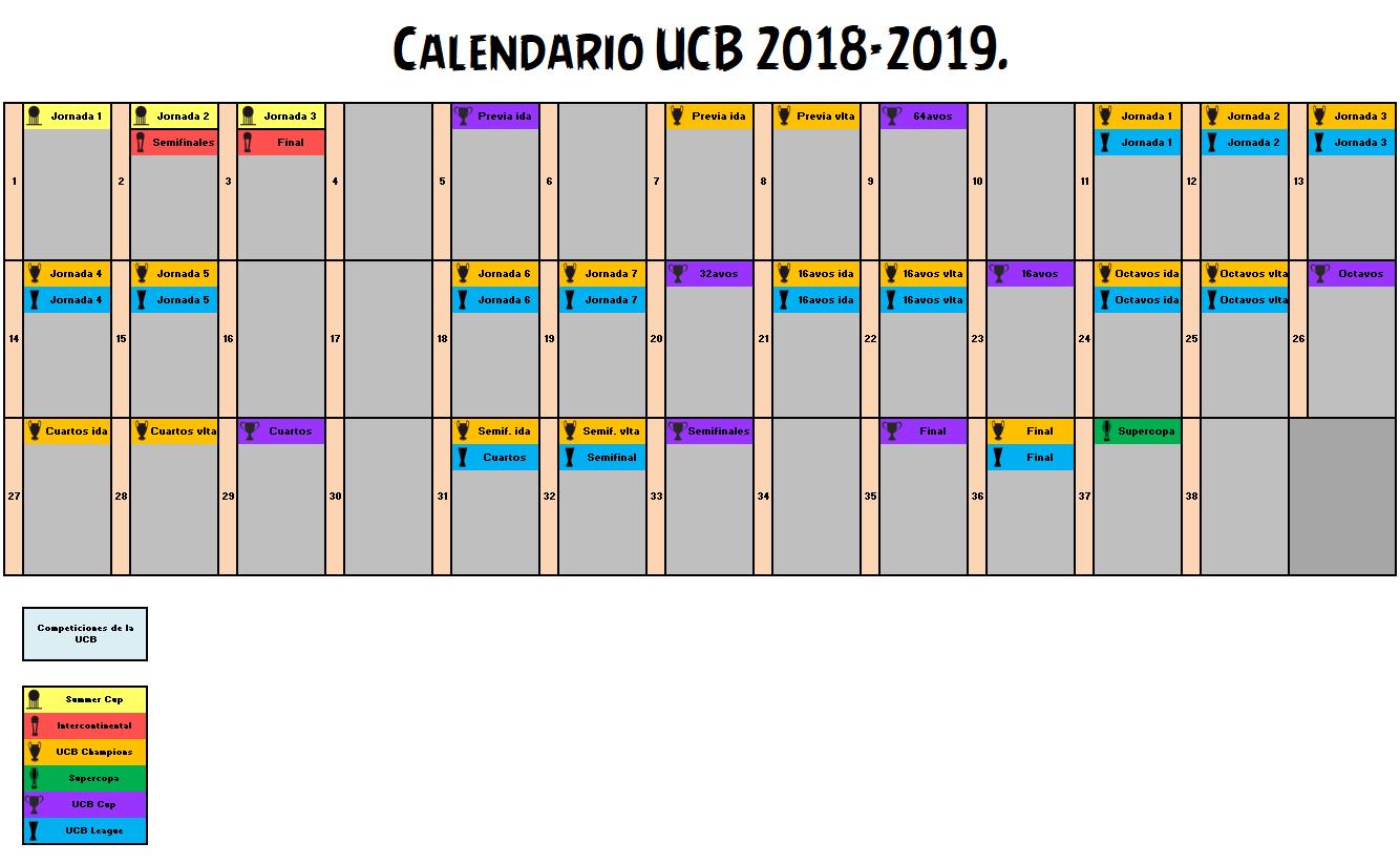 Calendario Lfp.Calendario La Champions De La Ucb